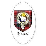 Purves Clan Crest Tartan Oval Sticker