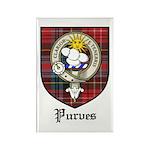 Purves Clan Crest Tartan Rectangle Magnet (10 pack