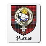 Purves Clan Crest Tartan Mousepad
