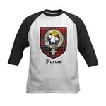 Purves Clan Crest Tartan Kids Baseball Jersey