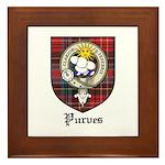 Purves Clan Crest Tartan Framed Tile