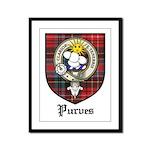 Purves Clan Crest Tartan Framed Panel Print
