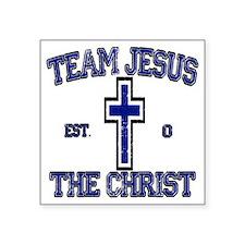 "team jesus the christ Square Sticker 3"" x 3"""