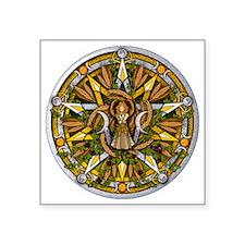 """Lammas/Lughnasadh Pentacle Square Sticker 3"""" x 3"""""""