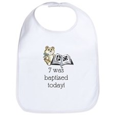 I was baptized today! (Boy) Bib