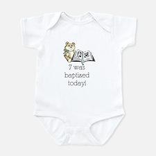 I was baptized today! (Boy) Infant Bodysuit