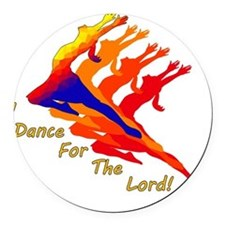 dancer_4_the_Lord Round Car Magnet