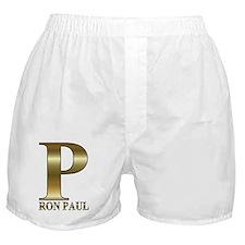 p ron paul gold 1 Boxer Shorts