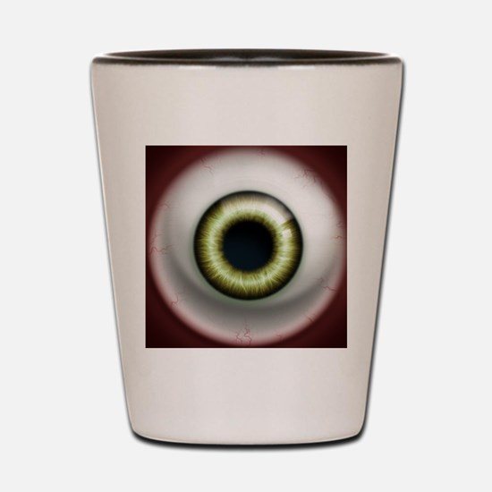 16x16_theeye_zombie Shot Glass
