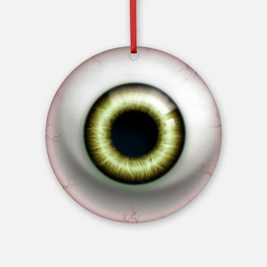 16x16_theeye_zombie Round Ornament