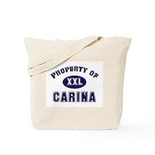 Property of carina Tote Bag