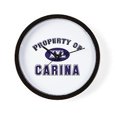 Property of carina Wall Clock