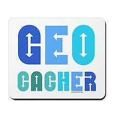 Geocacher Arrows Blue Mousepad