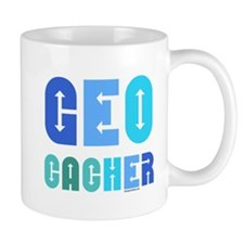 Geocacher Arrows Blue Small Mugs
