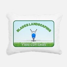 blades landacaping Rectangular Canvas Pillow