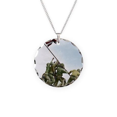Iwofull portret 16x20_print Necklace Circle Charm