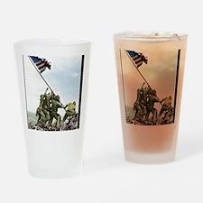 Iwofull portret 16x20_print Drinking Glass