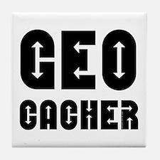 Geocacher Arrows Tile Coaster