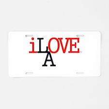 i Love LA Iconic RedBlk Lrg Los Angeles Aluminum L
