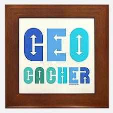 Geocacher Arrows Blue Framed Tile