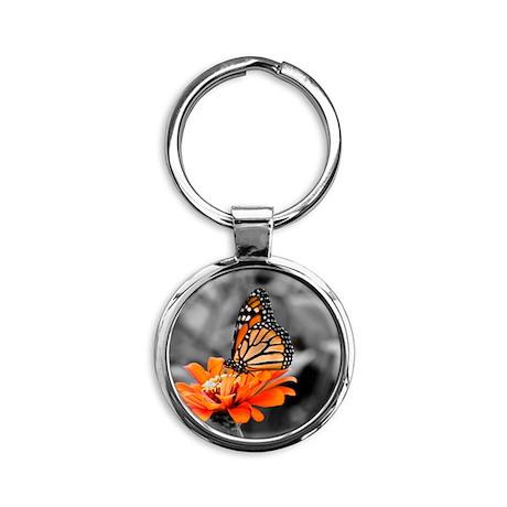 Madam Butterfly Round Keychain
