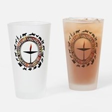 UUAM LOGO - 3x3 with animals png Drinking Glass