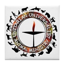 UUAM LOGO - 3x3 with animals png Tile Coaster