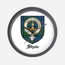 Shaw Clan Crest Tartan Wall Clock