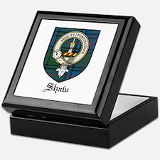 Shaw Clan Crest Tartan Keepsake Box