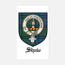Shaw Clan Crest Tartan Rectangle Decal