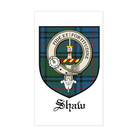 Shaw Clan Crest Tartan Rectangle Sticker