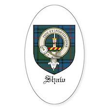 Shaw Clan Crest Tartan Oval Decal