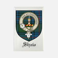 Shaw Clan Crest Tartan Rectangle Magnet (10 pack)