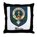 Shaw Clan Crest Tartan Throw Pillow