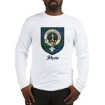 Shaw Clan Crest Tartan Long Sleeve T-Shirt
