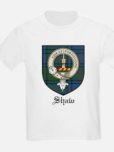 Shaw Clan Crest Tartan Kids T-Shirt