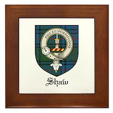 Shaw Clan Crest Tartan Framed Tile