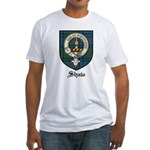Shaw Clan Crest Tartan Fitted T-Shirt