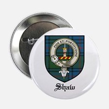 """Shaw Clan Crest Tartan 2.25"""" Button (10 pack)"""
