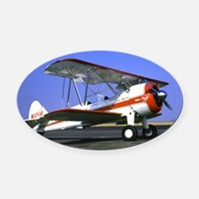 plane3 Oval Car Magnet