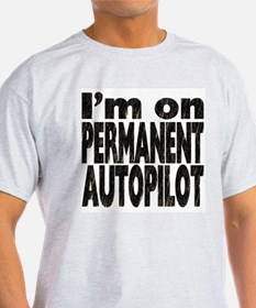 Permanent Autopilot 2 Ash Grey T-Shirt