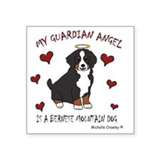 "BerneseMtnDog Square Sticker 3"" x 3"""