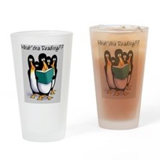 penguins Drinking Glass