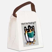 penguins Canvas Lunch Bag