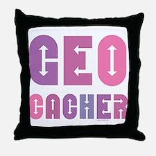 Geocacher Arrows Pinks Throw Pillow