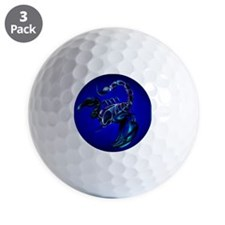 Black Scorpion_pillow Golf Ball