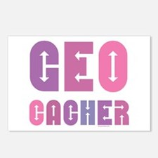 Geocacher Arrows Pinks Postcards (Package of 8)
