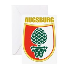 Augsburg (gold) Greeting Card