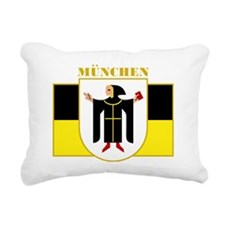 Munich (gold) Rectangular Canvas Pillow