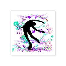 "skaterspin Square Sticker 3"" x 3"""